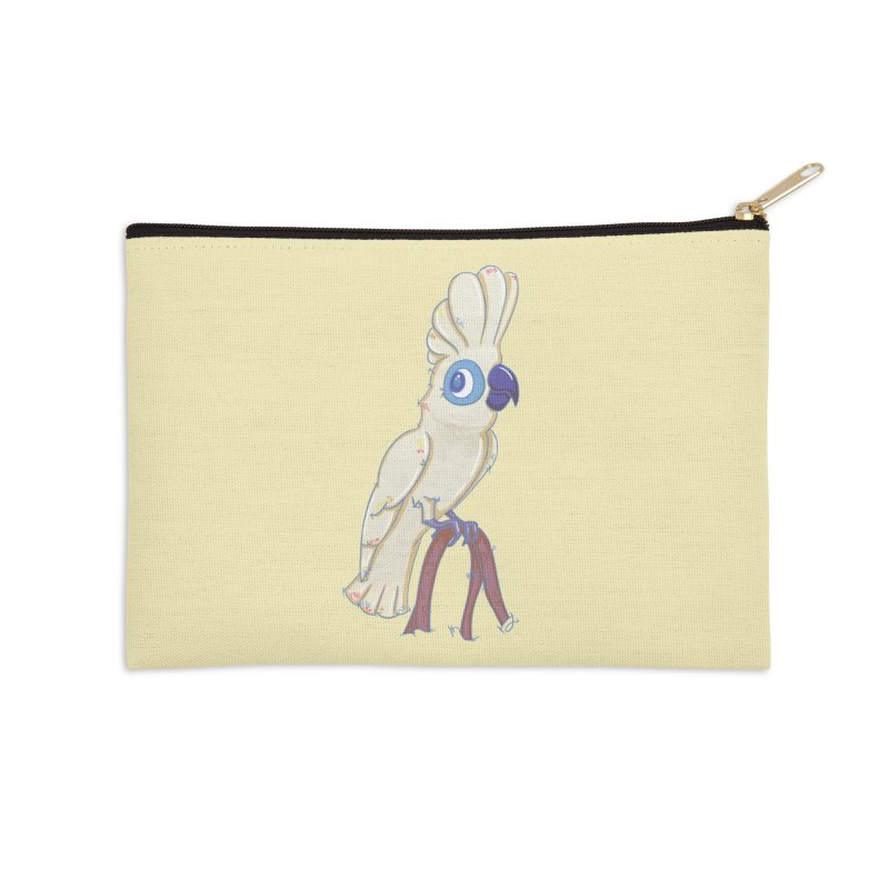 Clever Little Cockatoo  Accessories Zip Pouch by VanillaKirsty's Artist Shop