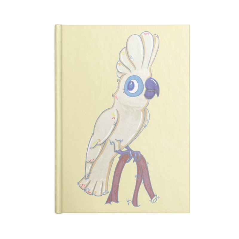 Clever Little Cockatoo  Accessories Notebook by VanillaKirsty's Artist Shop