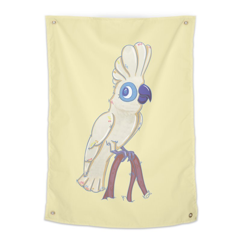 Clever Little Cockatoo  Home Tapestry by VanillaKirsty's Artist Shop