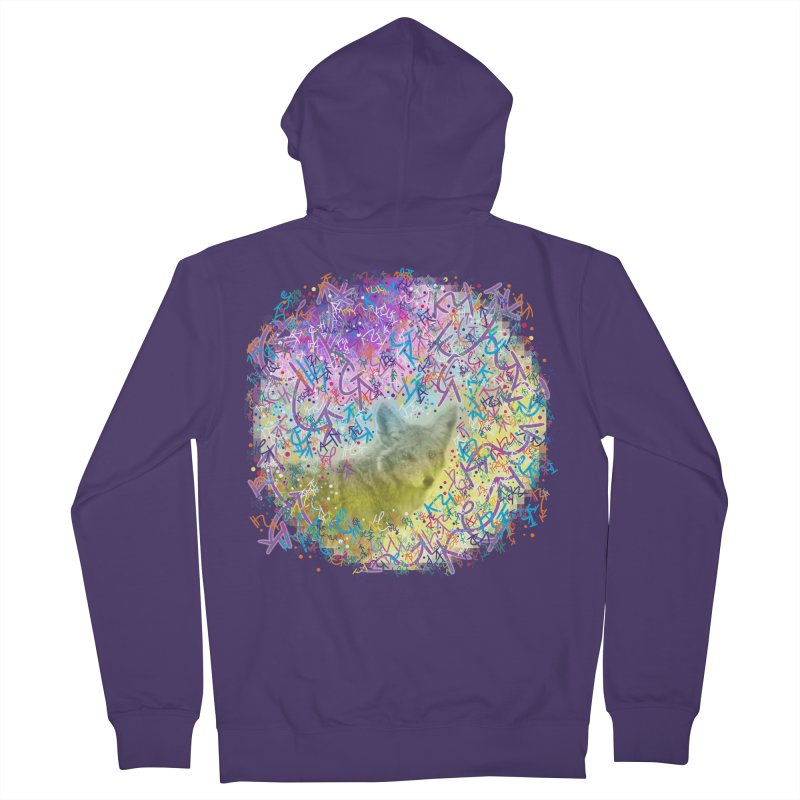 Chromatic Coyote Women's Zip-Up Hoody by VanillaKirsty's Artist Shop