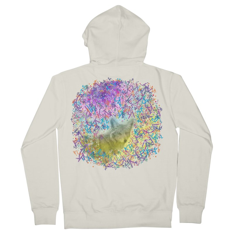 Chromatic Coyote Men's Zip-Up Hoody by VanillaKirsty's Artist Shop