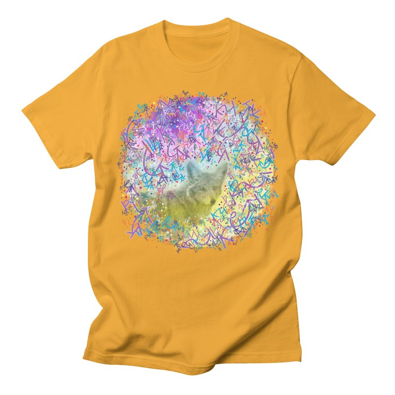 Chromatic Coyote Men's T-Shirt by VanillaKirsty's Artist Shop