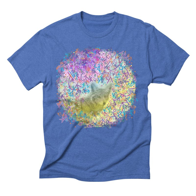 Chromatic Coyote Men's Triblend T-shirt by VanillaKirsty's Artist Shop