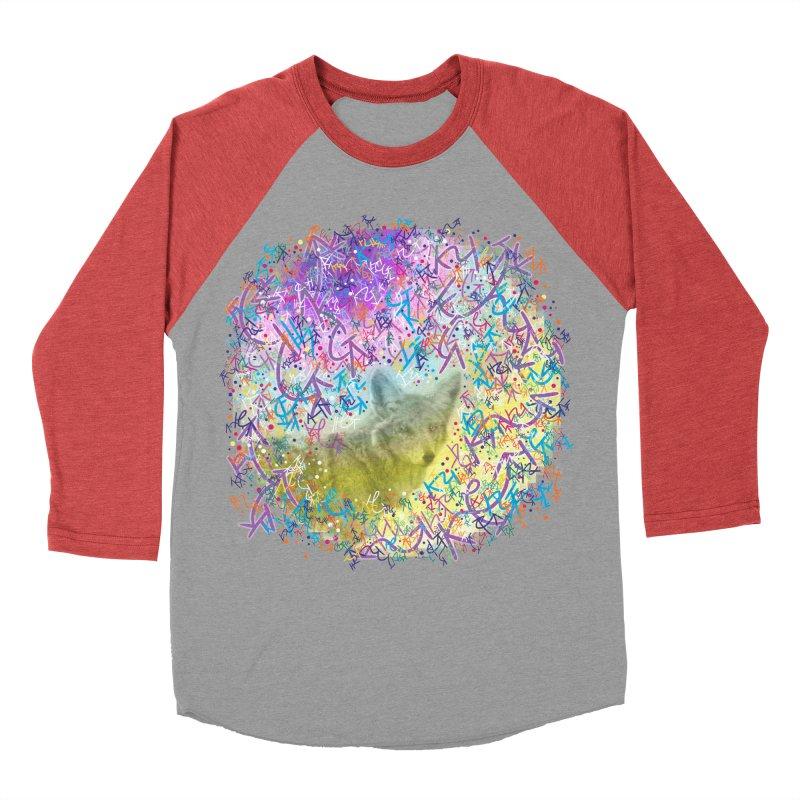 Chromatic Coyote Men's Baseball Triblend T-Shirt by VanillaKirsty's Artist Shop