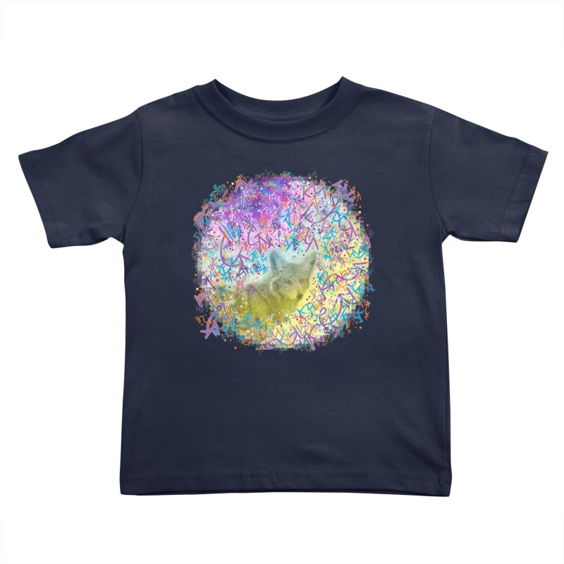 Chromatic Coyote Kids Toddler T-Shirt by VanillaKirsty's Artist Shop
