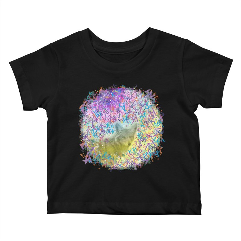 Chromatic Coyote Kids Baby T-Shirt by VanillaKirsty's Artist Shop