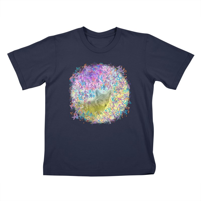 Chromatic Coyote Kids T-Shirt by VanillaKirsty's Artist Shop