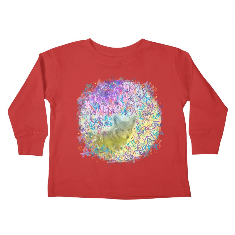 Chromatic Coyote Kids Toddler Longsleeve T-Shirt by VanillaKirsty's Artist Shop