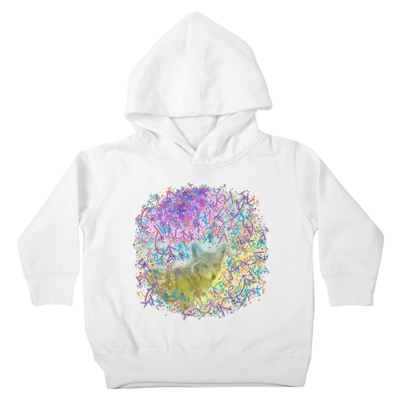Chromatic Coyote Kids Toddler Pullover Hoody by VanillaKirsty's Artist Shop