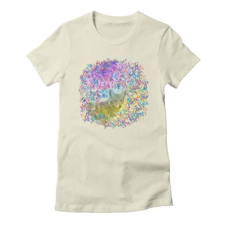 Chromatic Coyote Women's Fitted T-Shirt by VanillaKirsty's Artist Shop