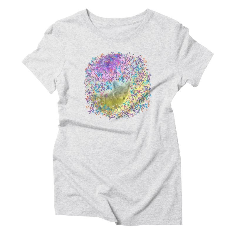 Chromatic Coyote Women's Triblend T-Shirt by VanillaKirsty's Artist Shop