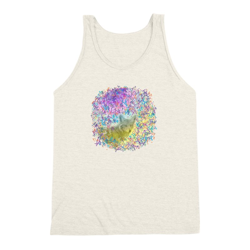 Chromatic Coyote Men's Triblend Tank by VanillaKirsty's Artist Shop