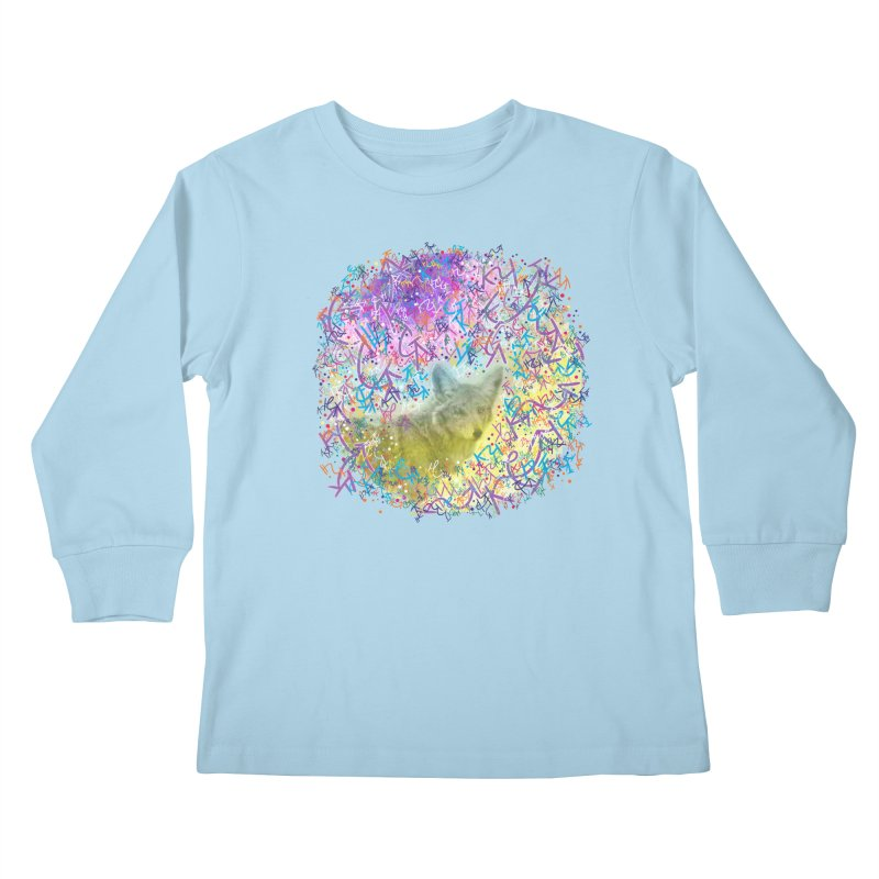 Chromatic Coyote Kids Longsleeve T-Shirt by VanillaKirsty's Artist Shop