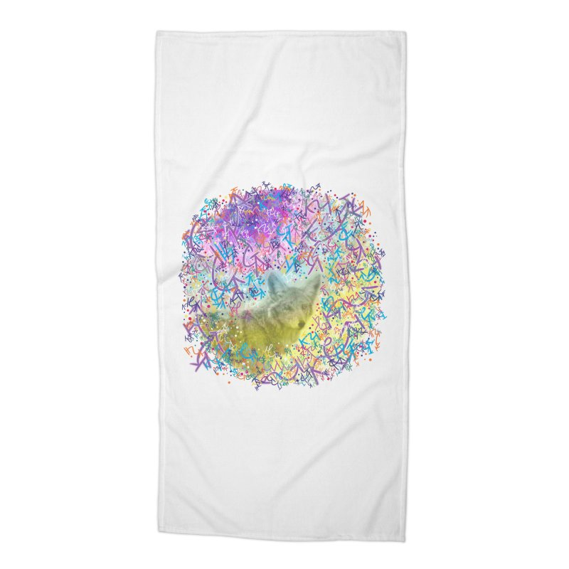 Chromatic Coyote Accessories Beach Towel by VanillaKirsty's Artist Shop