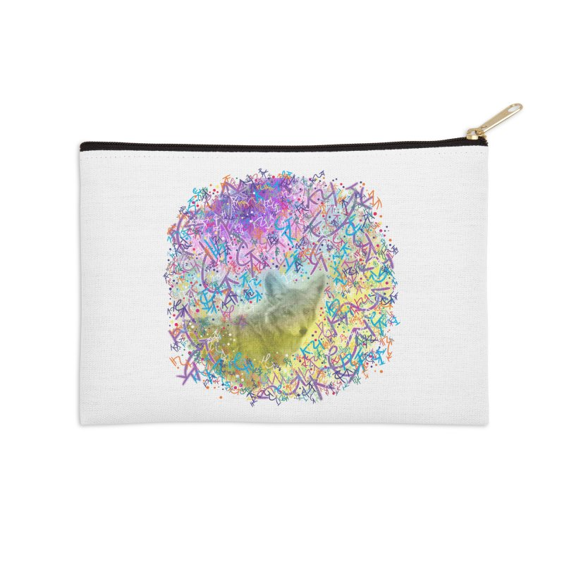 Chromatic Coyote Accessories Zip Pouch by VanillaKirsty's Artist Shop