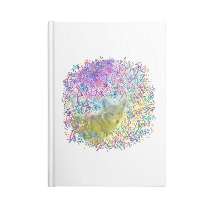 Chromatic Coyote Accessories Notebook by VanillaKirsty's Artist Shop