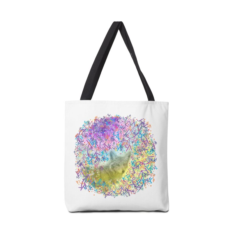 Chromatic Coyote Accessories Bag by VanillaKirsty's Artist Shop