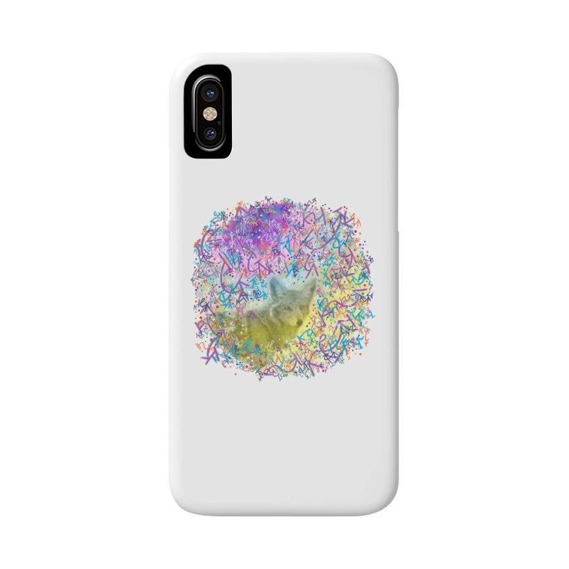Chromatic Coyote Accessories Phone Case by VanillaKirsty's Artist Shop