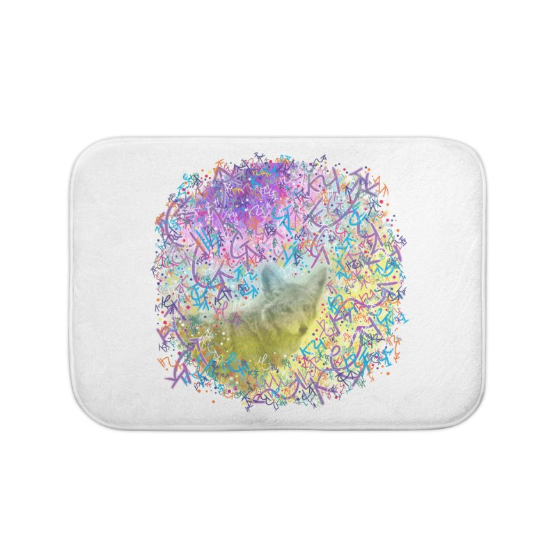 Chromatic Coyote Home Bath Mat by VanillaKirsty's Artist Shop