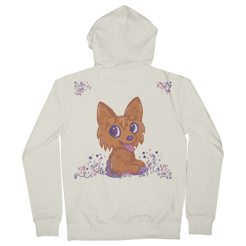 Little Yorkie  Men's Zip-Up Hoody by VanillaKirsty's Artist Shop