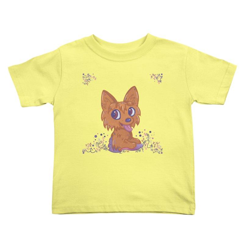 Little Yorkie  Kids Toddler T-Shirt by VanillaKirsty's Artist Shop