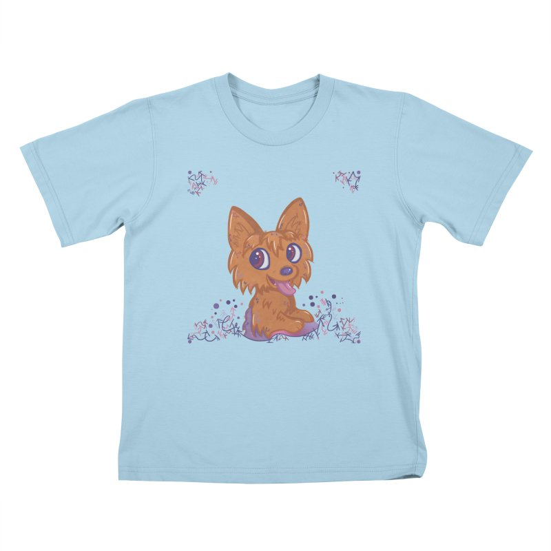 Little Yorkie  Kids T-shirt by VanillaKirsty's Artist Shop