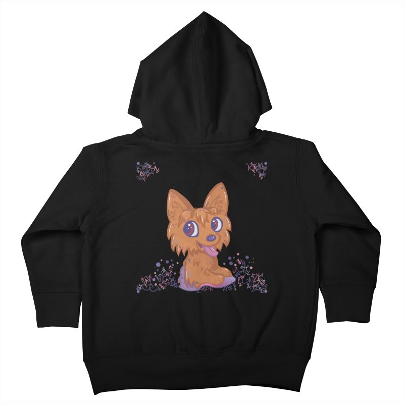 Little Yorkie  Kids Toddler Zip-Up Hoody by VanillaKirsty's Artist Shop