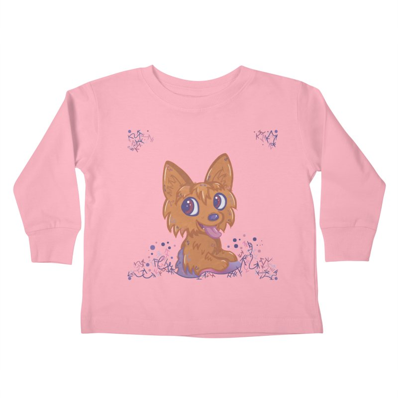 Little Yorkie  Kids Toddler Longsleeve T-Shirt by VanillaKirsty's Artist Shop