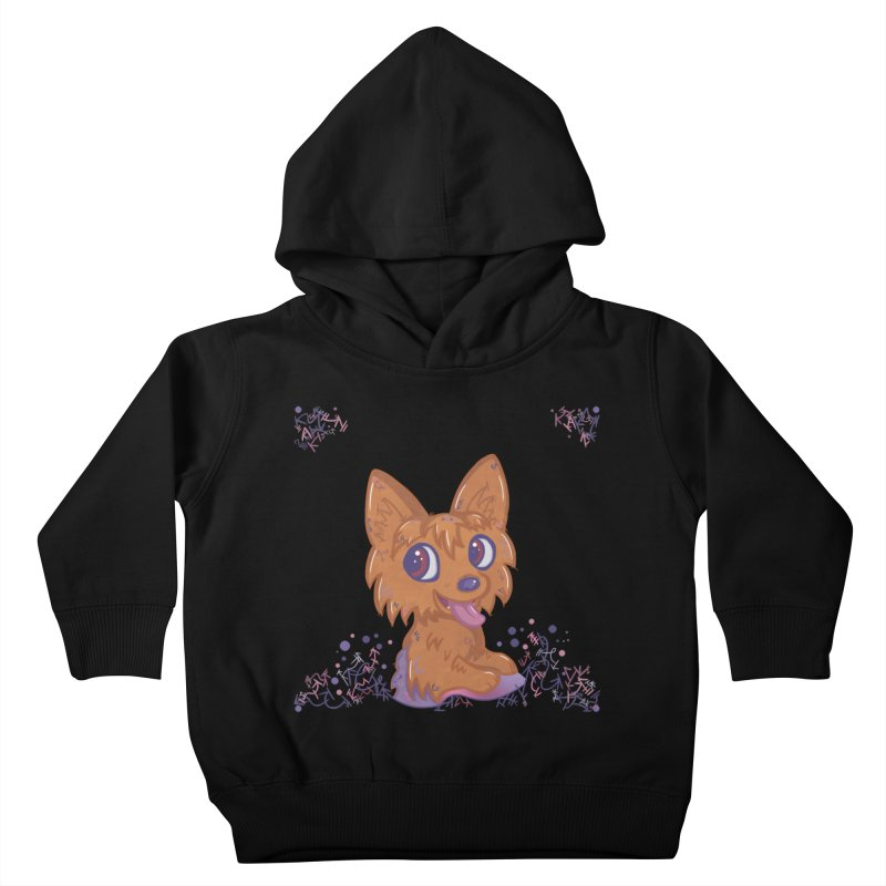Little Yorkie  Kids Toddler Pullover Hoody by VanillaKirsty's Artist Shop