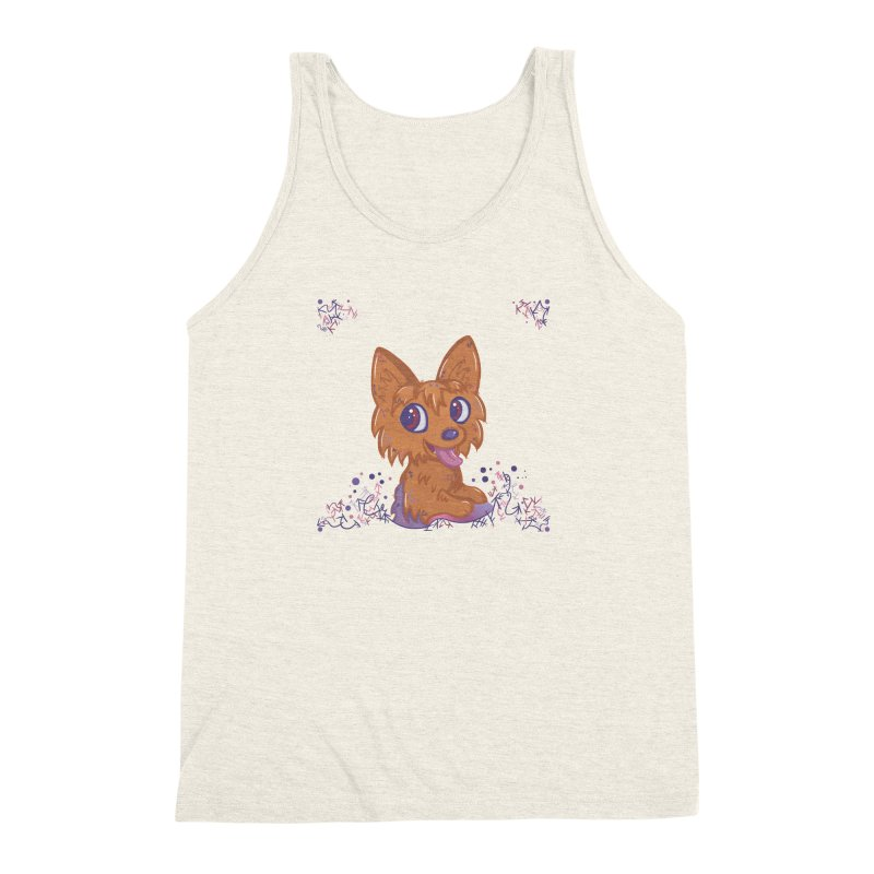 Little Yorkie  Men's Triblend Tank by VanillaKirsty's Artist Shop