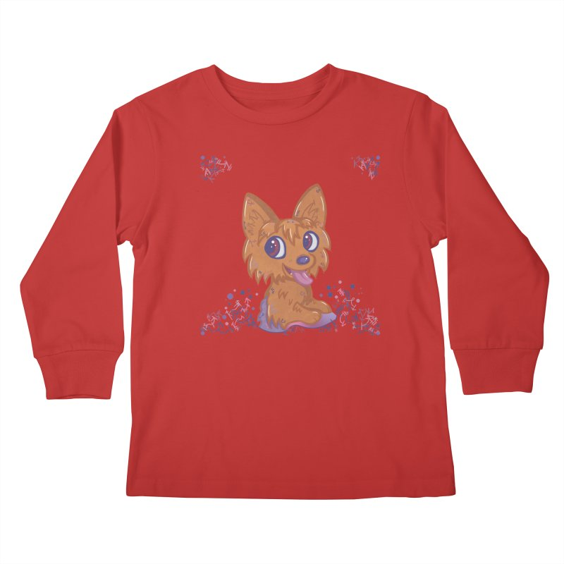 Little Yorkie  Kids Longsleeve T-Shirt by VanillaKirsty's Artist Shop