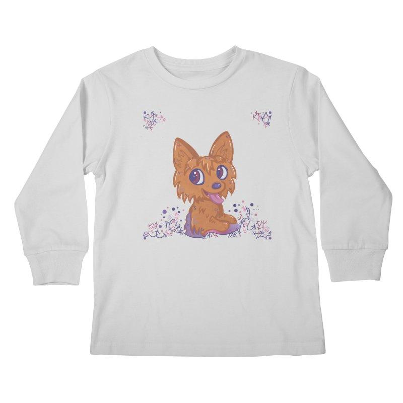 Little Yorkie  Kids Longsleeve T-Shirt by VanillaKirsty's Artist Shop