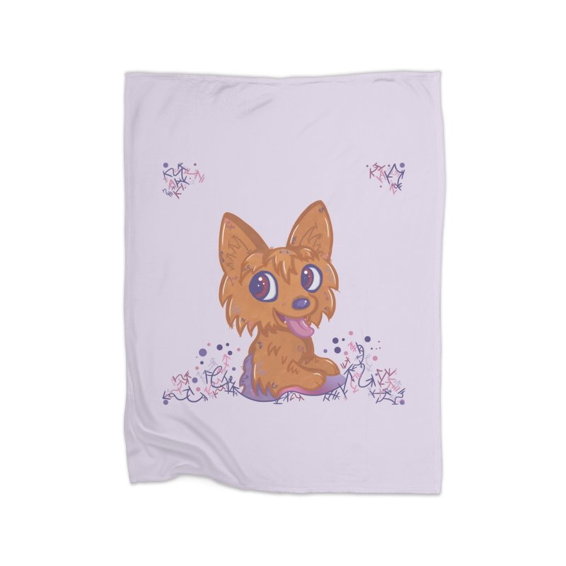 Little Yorkie  Home Blanket by VanillaKirsty's Artist Shop