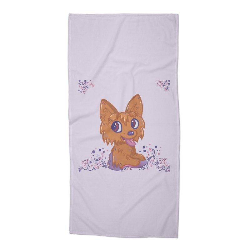 Little Yorkie  Accessories Beach Towel by VanillaKirsty's Artist Shop