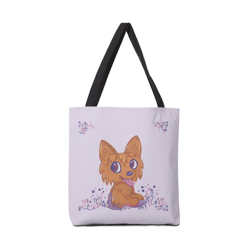 Little Yorkie  Accessories Bag by VanillaKirsty's Artist Shop