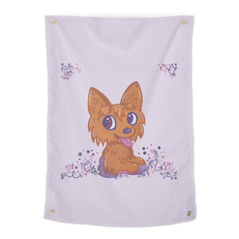 Little Yorkie  Home Tapestry by VanillaKirsty's Artist Shop