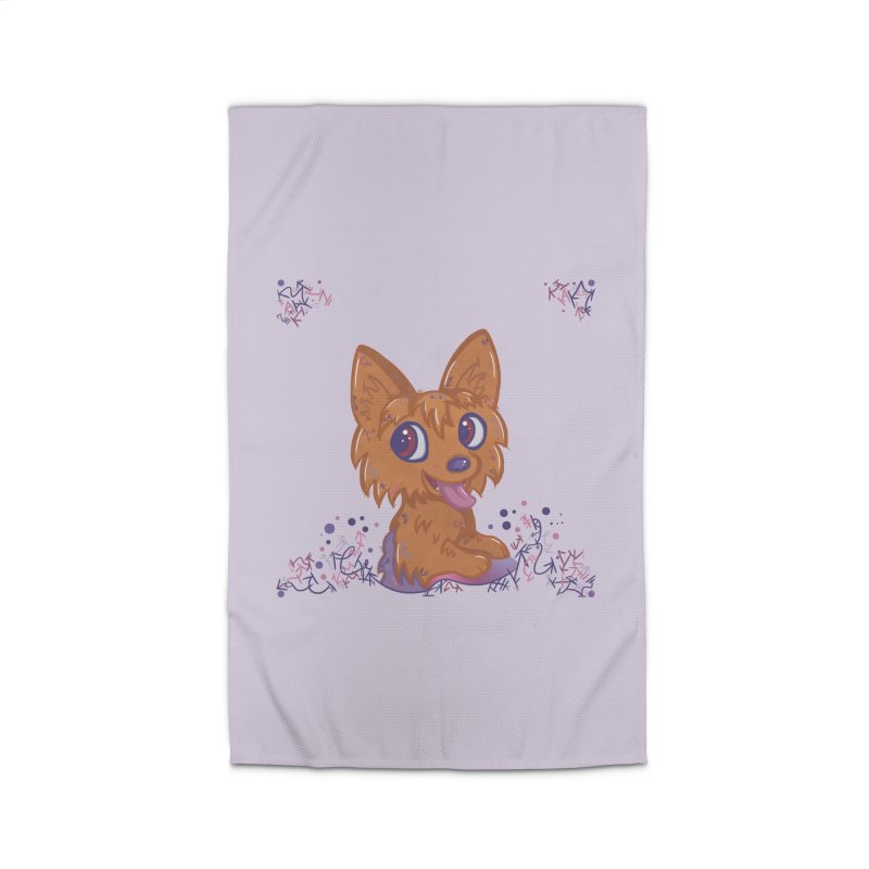 Little Yorkie  Home Rug by VanillaKirsty's Artist Shop