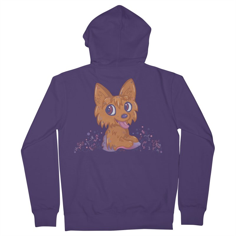 Little Yorkie  Women's Zip-Up Hoody by VanillaKirsty's Artist Shop