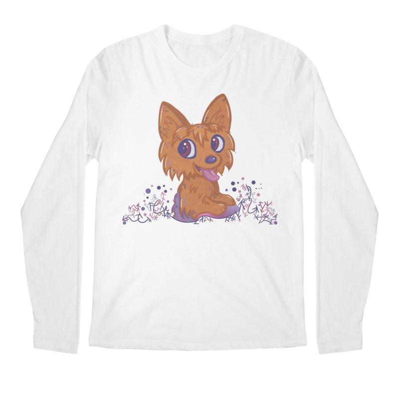 Little Yorkie  Men's Longsleeve T-Shirt by VanillaKirsty's Artist Shop