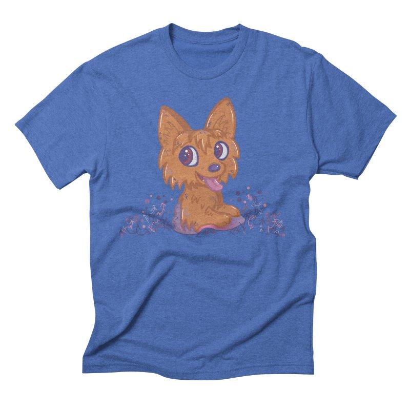 Little Yorkie  Men's Triblend T-Shirt by VanillaKirsty's Artist Shop