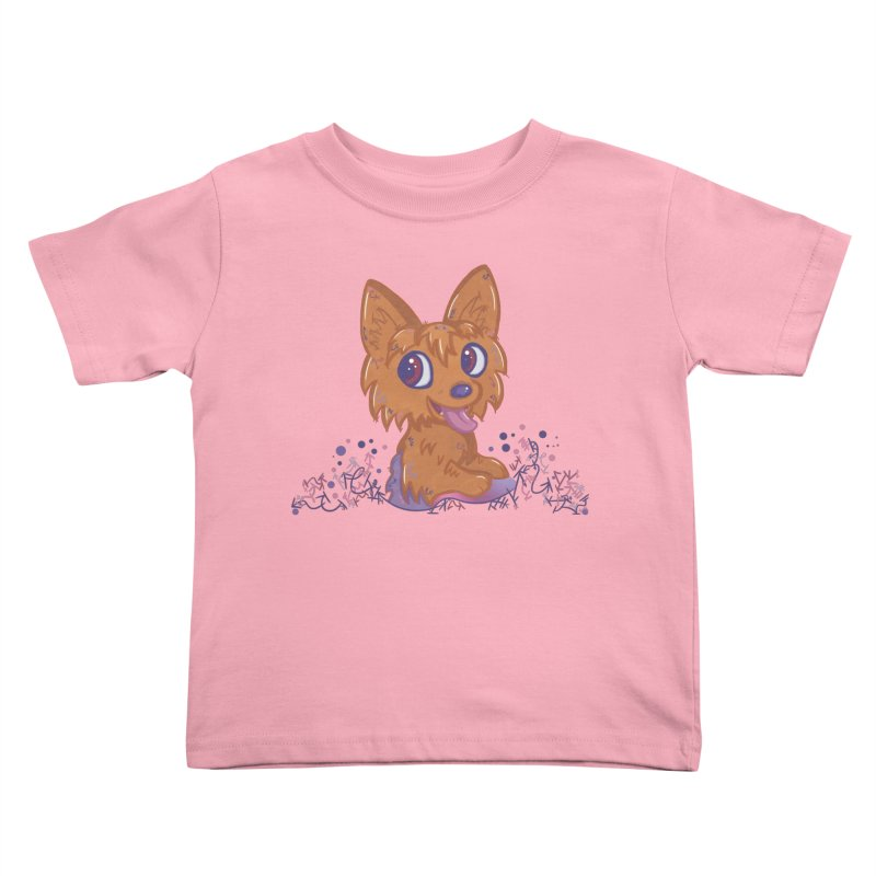 Little Yorkie  Kids Toddler T-Shirt by VanillaKirsty's Artist Shop