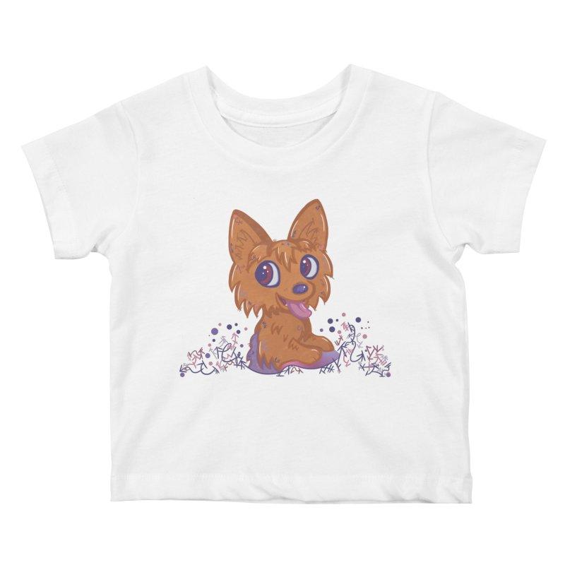 Little Yorkie  Kids Baby T-Shirt by VanillaKirsty's Artist Shop