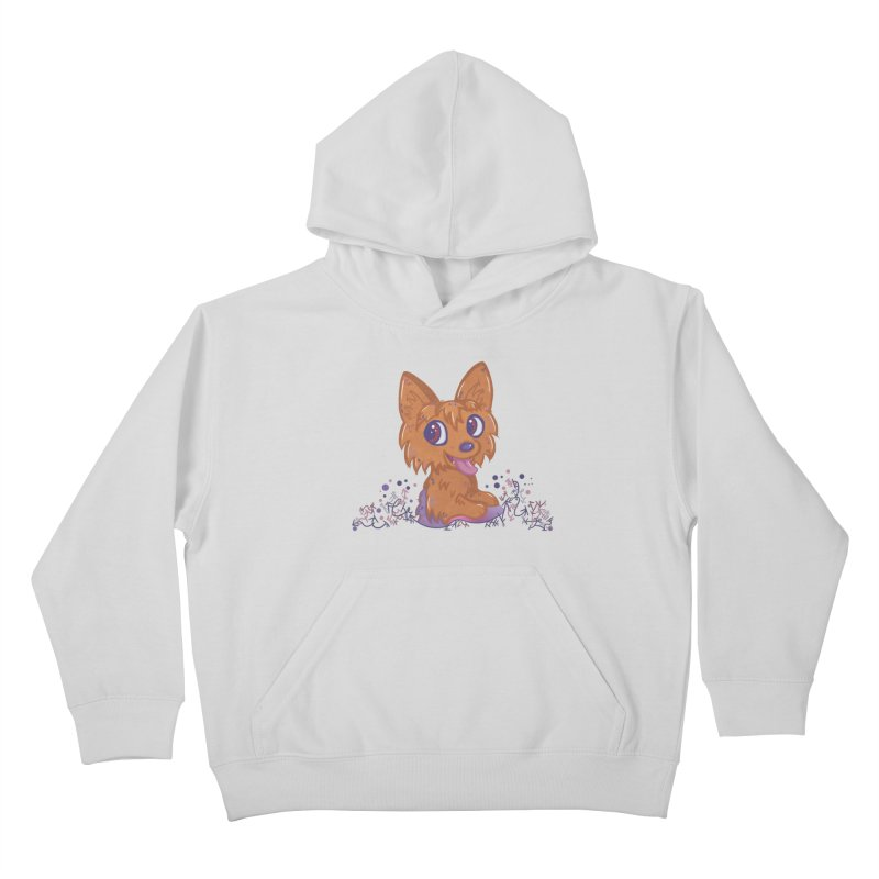Little Yorkie  Kids Pullover Hoody by VanillaKirsty's Artist Shop