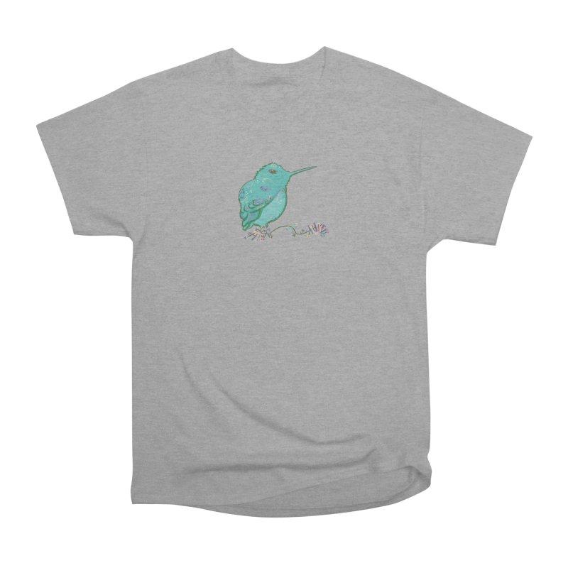 Tiny Hummingbird (Light Green) Women's Heavyweight Unisex T-Shirt by VanillaKirsty's Artist Shop
