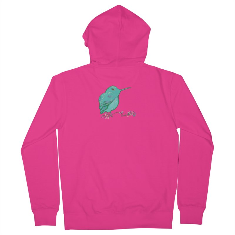 Tiny Hummingbird (Light Green) Men's Zip-Up Hoody by VanillaKirsty's Artist Shop