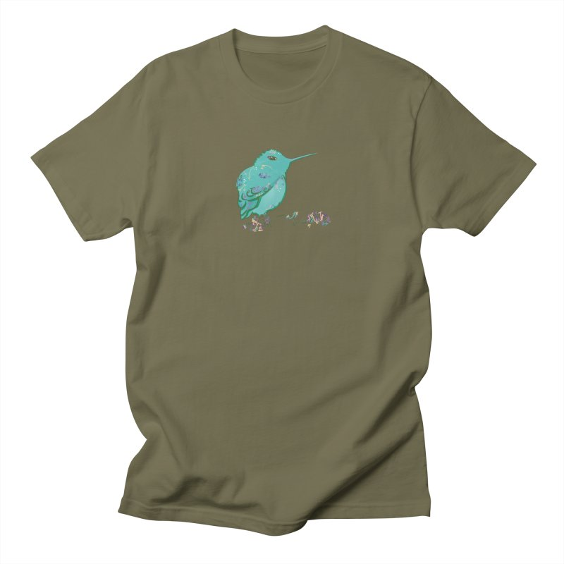 Tiny Hummingbird (Light Green) Men's T-Shirt by VanillaKirsty's Artist Shop