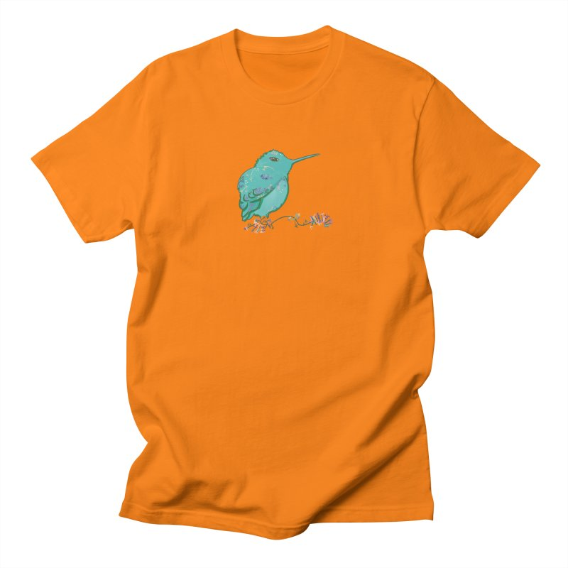 Tiny Hummingbird (Light Green) Men's T-Shirt by VanillaKirsty's Artist Shop