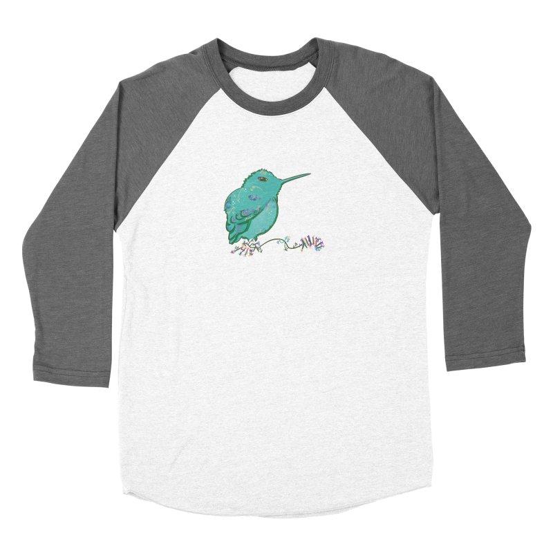 Tiny Hummingbird (Light Green) Women's Baseball Triblend T-Shirt by VanillaKirsty's Artist Shop