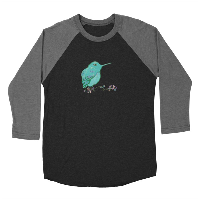 Tiny Hummingbird (Light Green) Women's Baseball Triblend T-Shirt by VanillaKirsty's Artist Shop