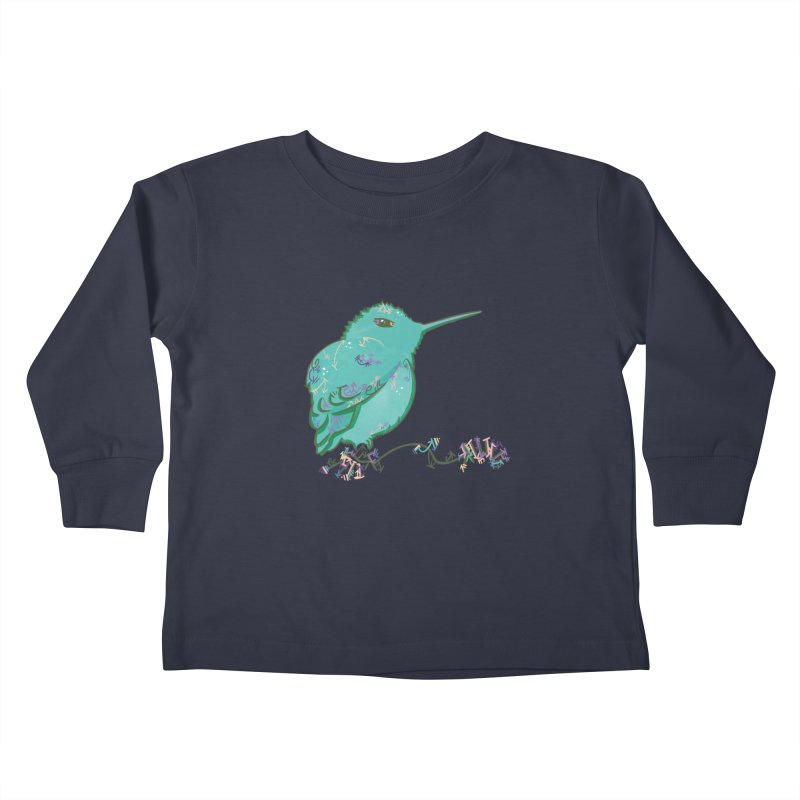 Tiny Hummingbird (Light Green) Kids Toddler Longsleeve T-Shirt by VanillaKirsty's Artist Shop